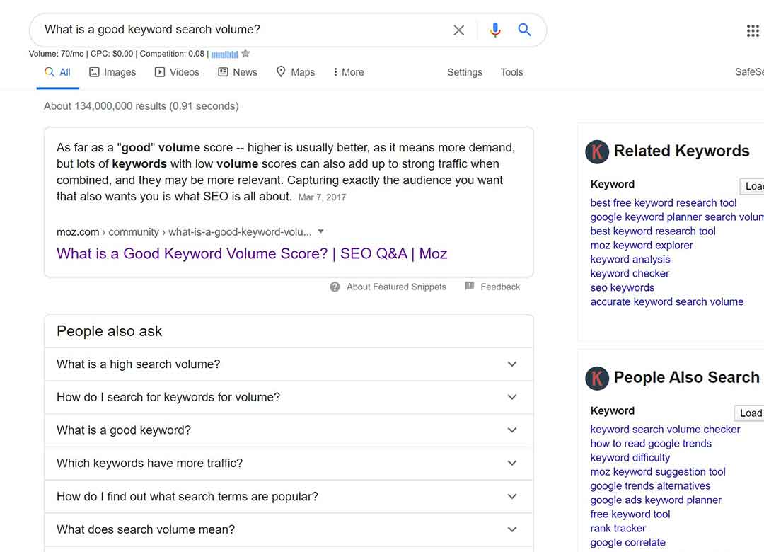 Keywords everywhere gives you the opportunity to follow all the day you need right in the search results page of Google!