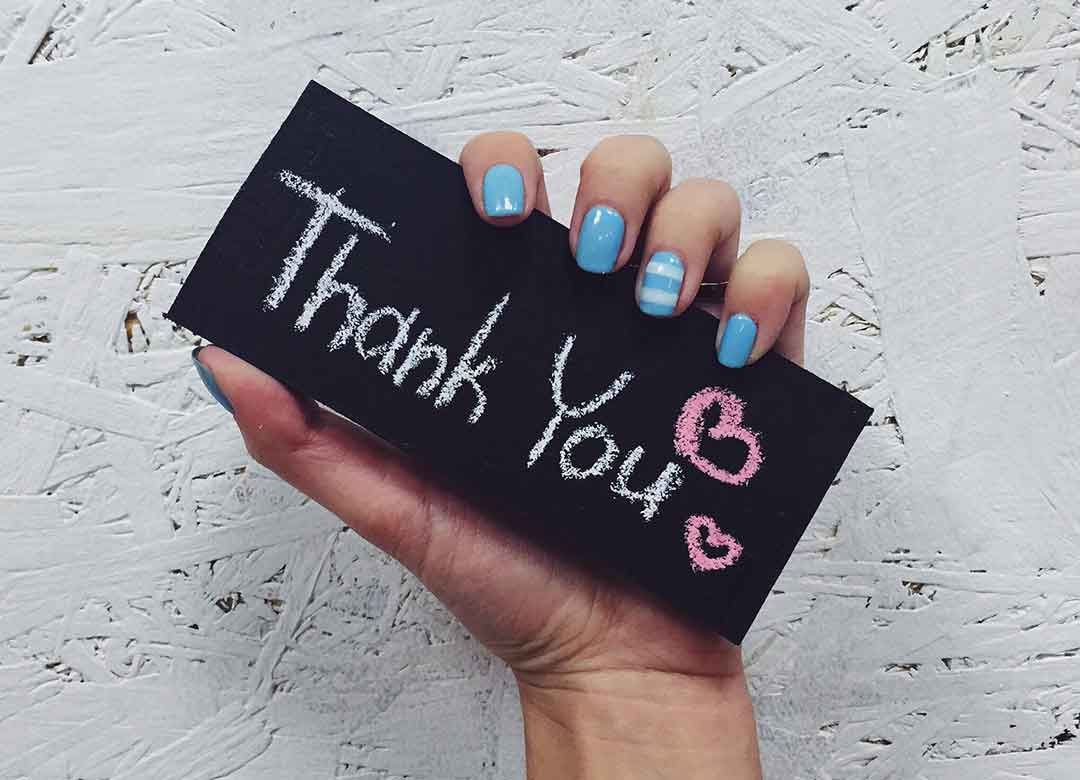 Thank Your Customers on Your Website