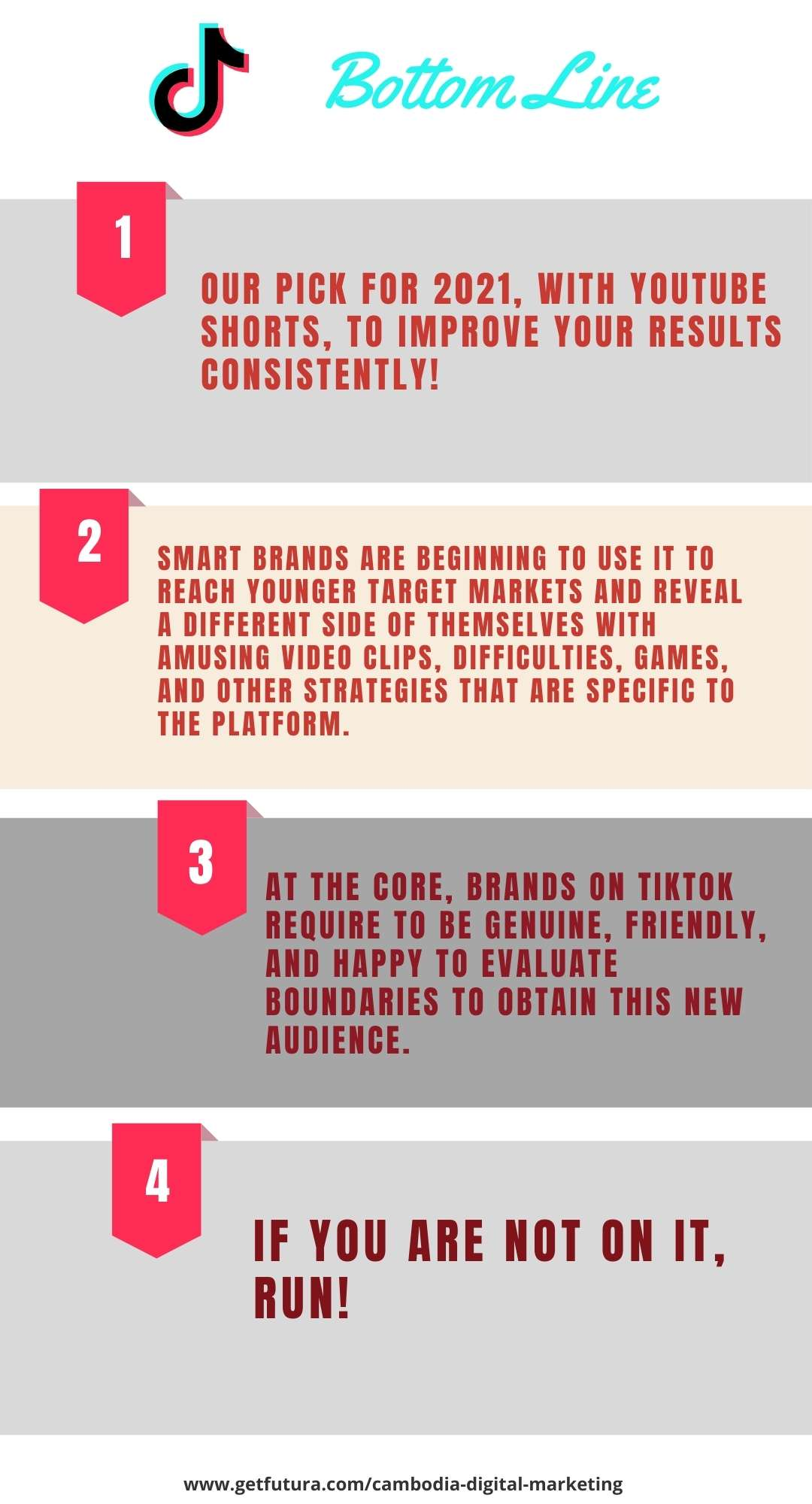 The bottom line Smart brands are beginning to use it to reach younger target markets and reveal a different side of themselves with amusing video clips, difficulties, games, and other strategies that are specific to the platform. At the core, brands on TikTok require to be genuine, friendly, and happy to evaluate boundaries to obtain this new audience.