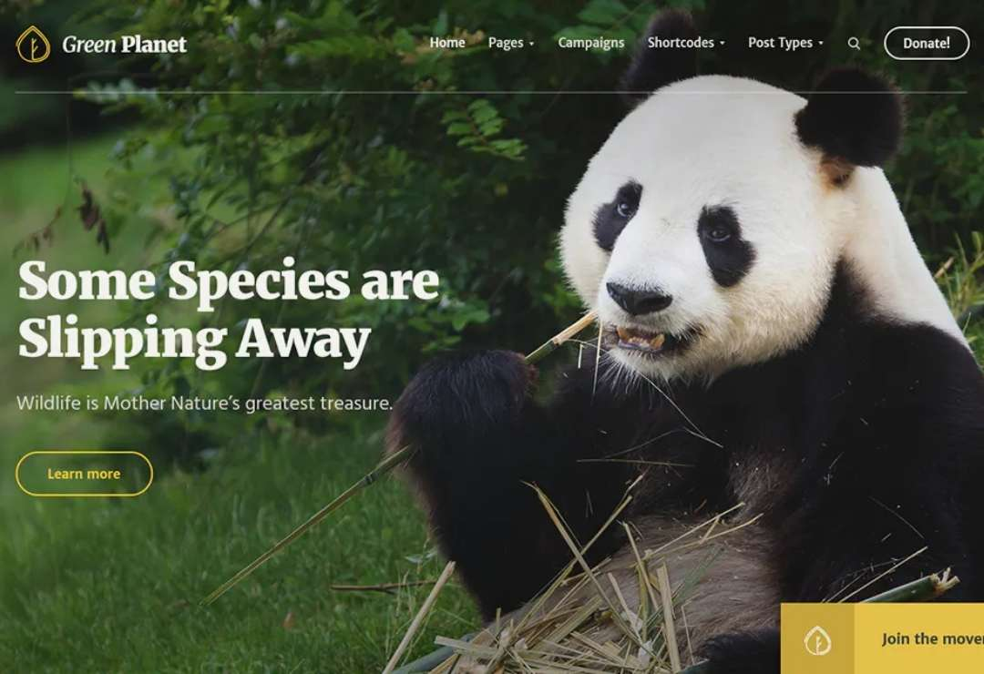 Ecology & Environment WP Theme - Green Planet