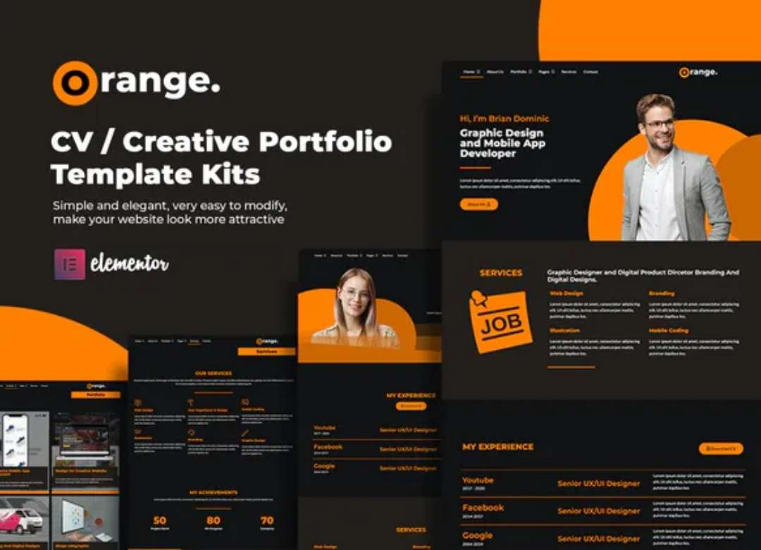 Orange CVCreative Portfolio