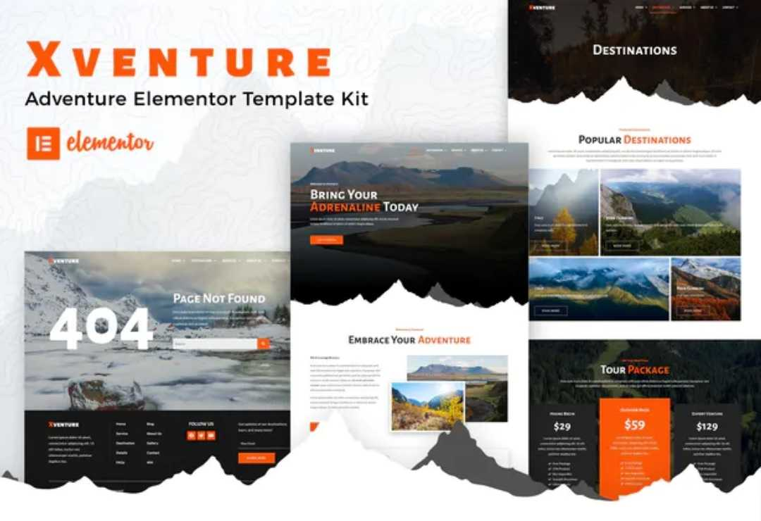 Xventure - Travel Elementor Template