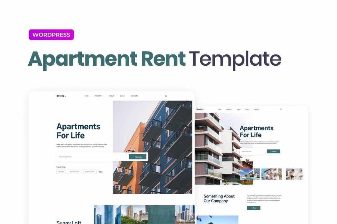 Dexico – Apartment Rent Elementor Template