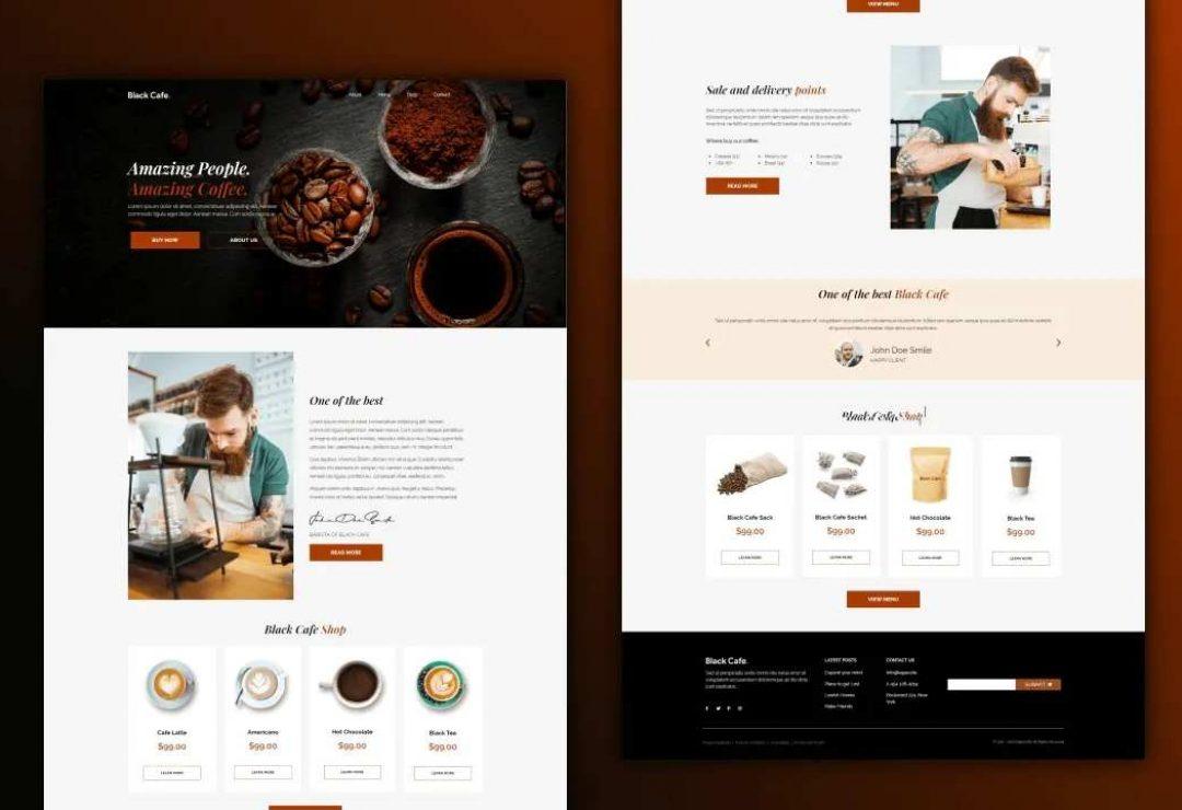 Black Cafe - Restaurant & Cafe 2