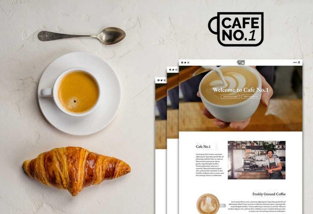 Café Web designs by GetFutura. The Coffee Shop and Café Web creations