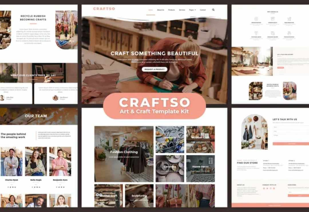 Craftso - Crafting Elementor Template