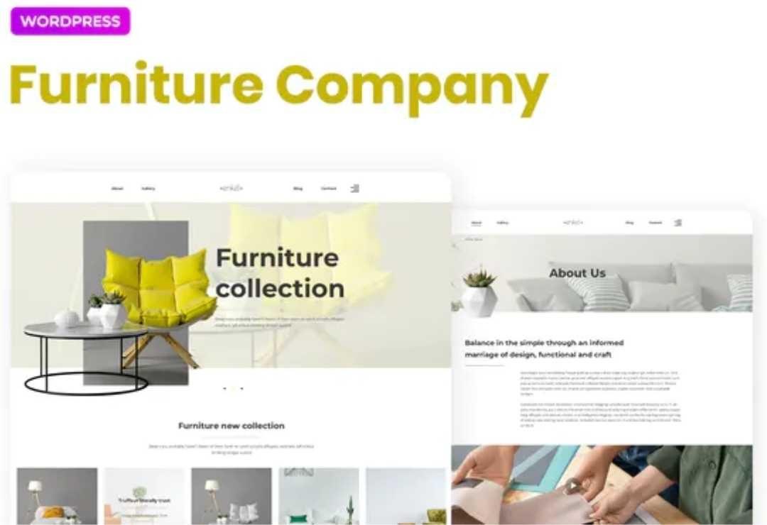 Enkel – Furniture Company Template Kit