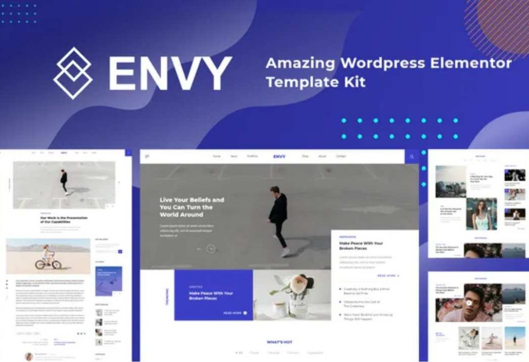 Envy - Elementor Template Kit News Magazine