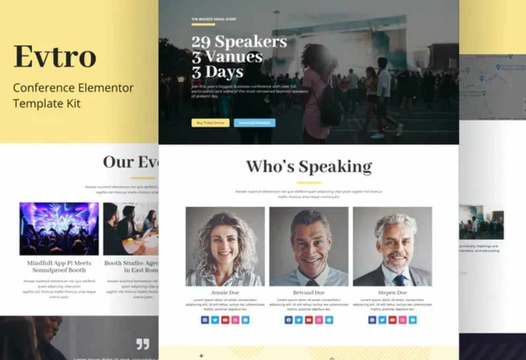 Evtro - Conference Template