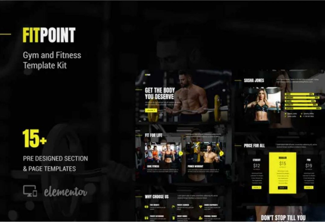 Fitness Web designs by GetFutura. Fit Point - Gym & Fitness