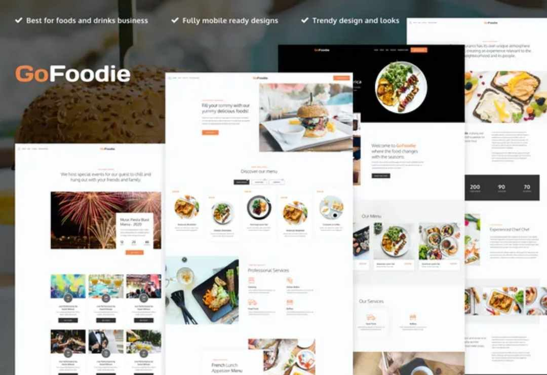 GoFoodie - A premium template kit