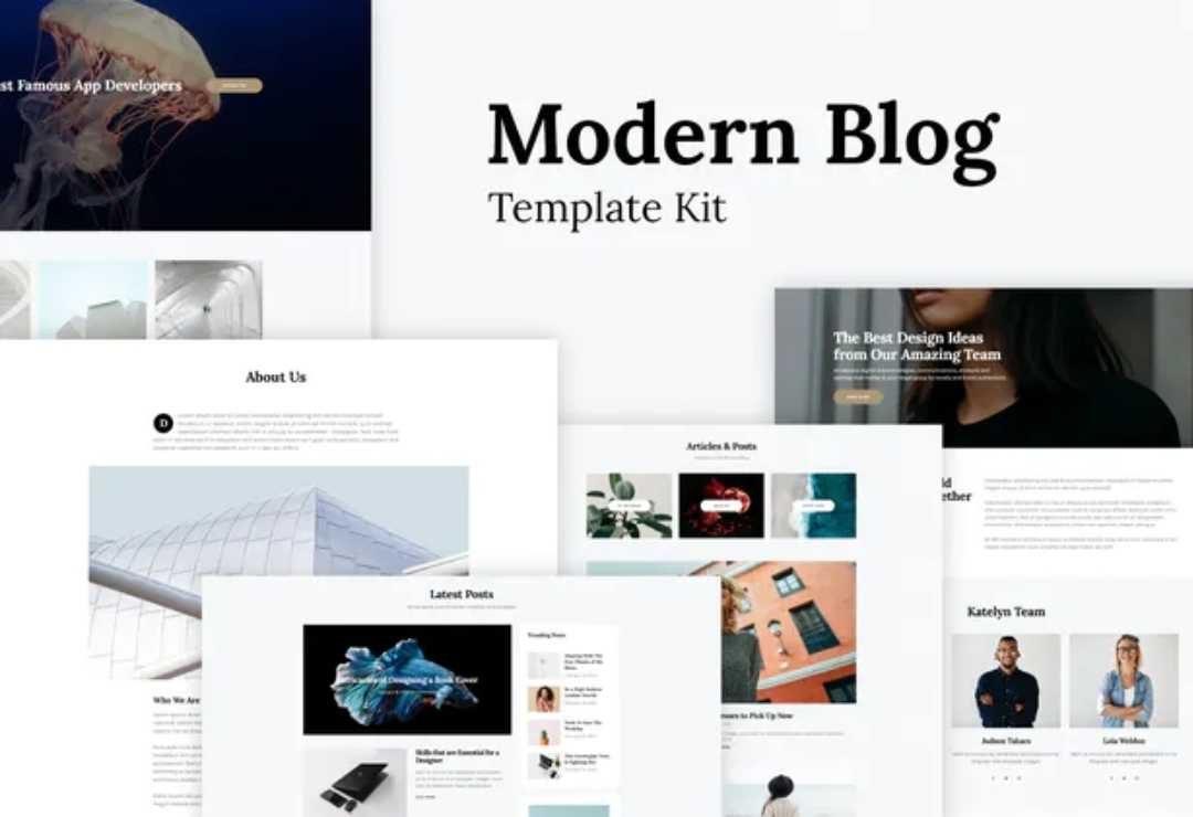 Katelyn - Modern Blog Template Kit 2