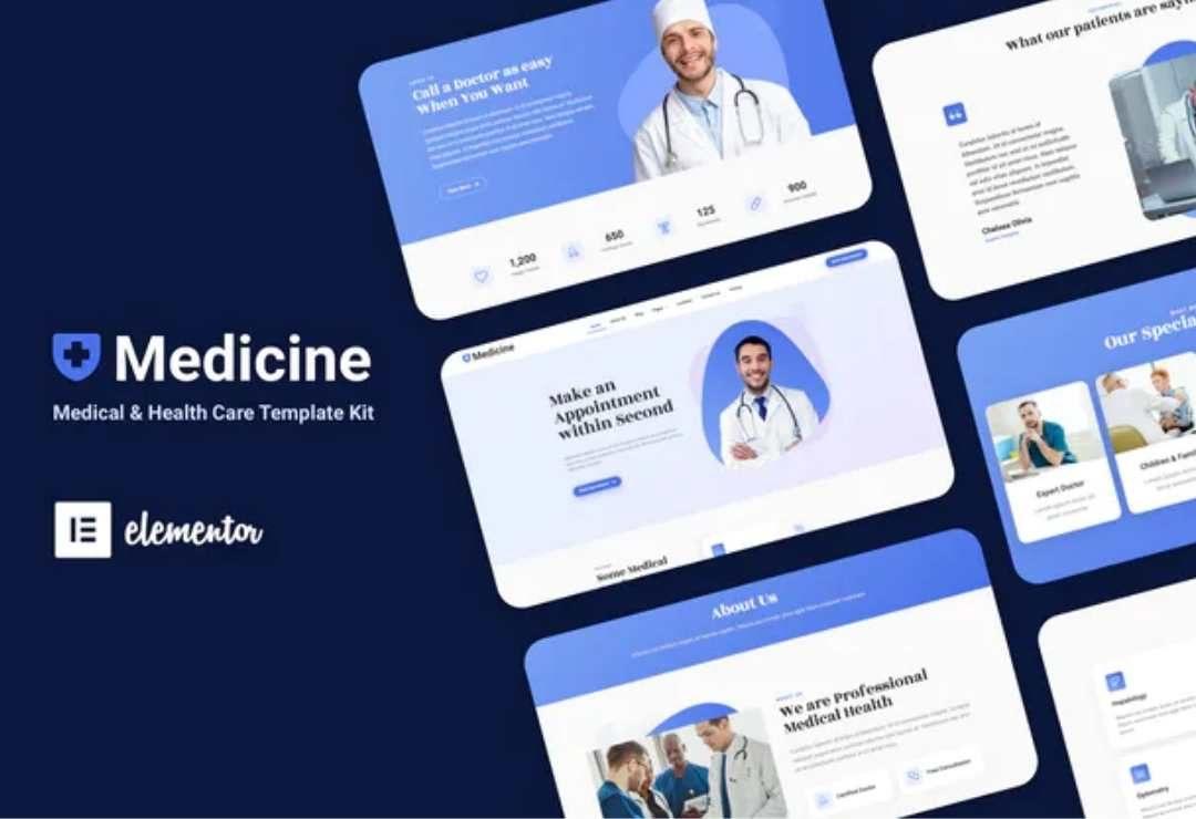 Medisine - Medical Elementor Template