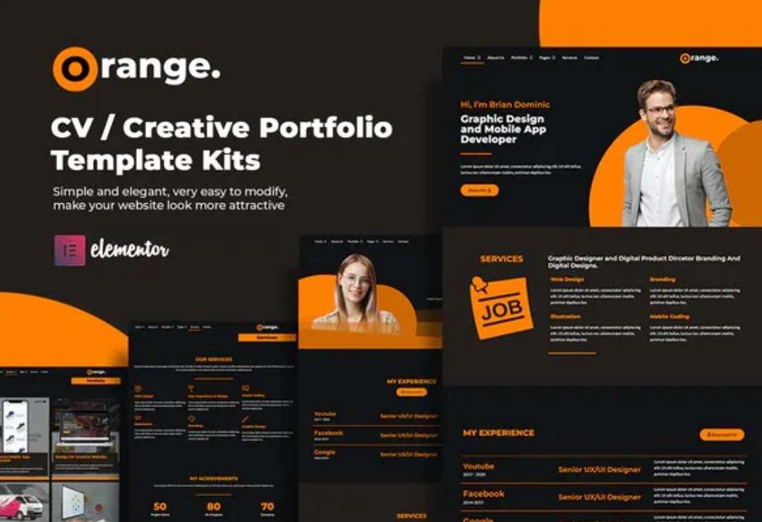 Orange CVCreative Portfolio