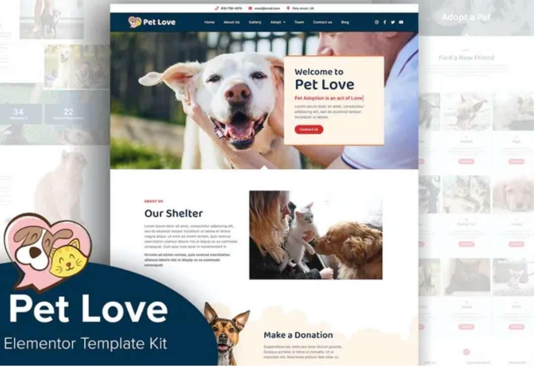 Pet Love - Animal Shelter