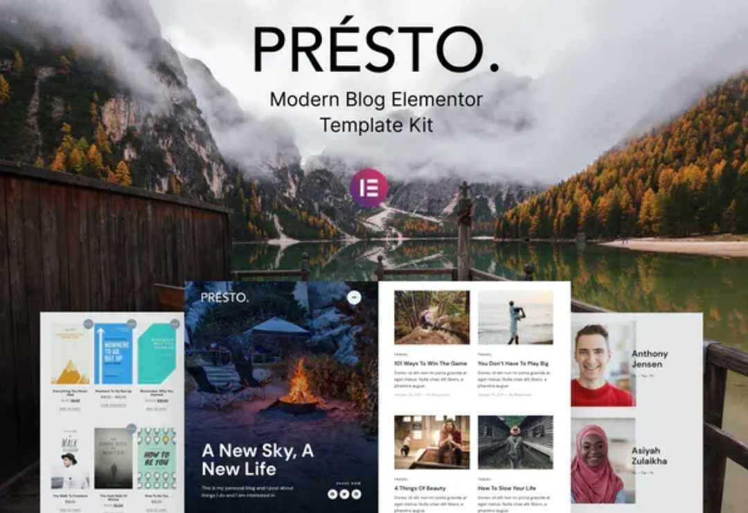 Presto – Modern Blog Elementor Template 2
