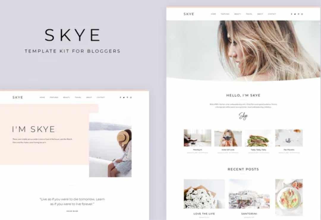 Skye - Modern Blog