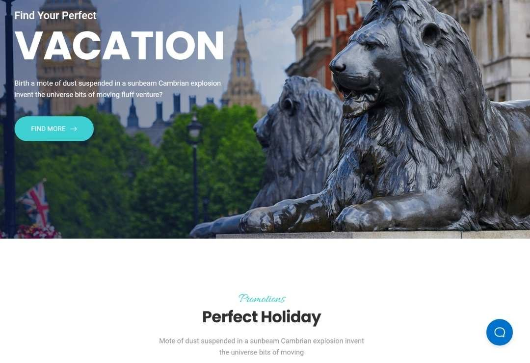 Travel and Accommodation Web creations