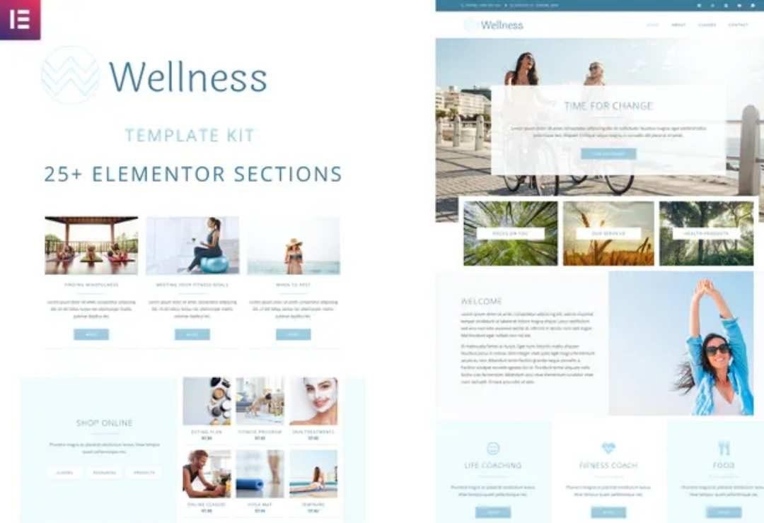 Wellness - Elementor Template Kit