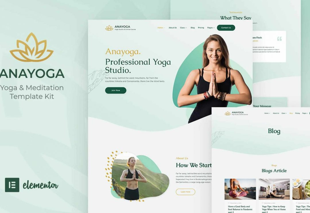 Yoga Web designs by GetFutura. Yoga Teacher and Yoga Studio Web creations 1