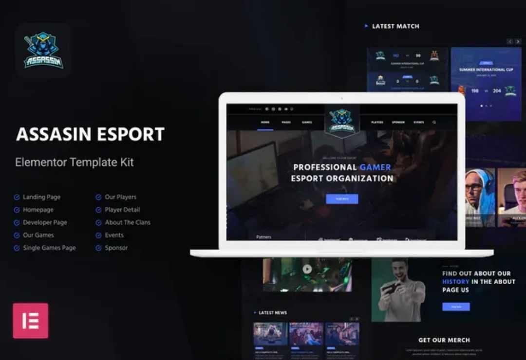 eSport Elementor Template Kit